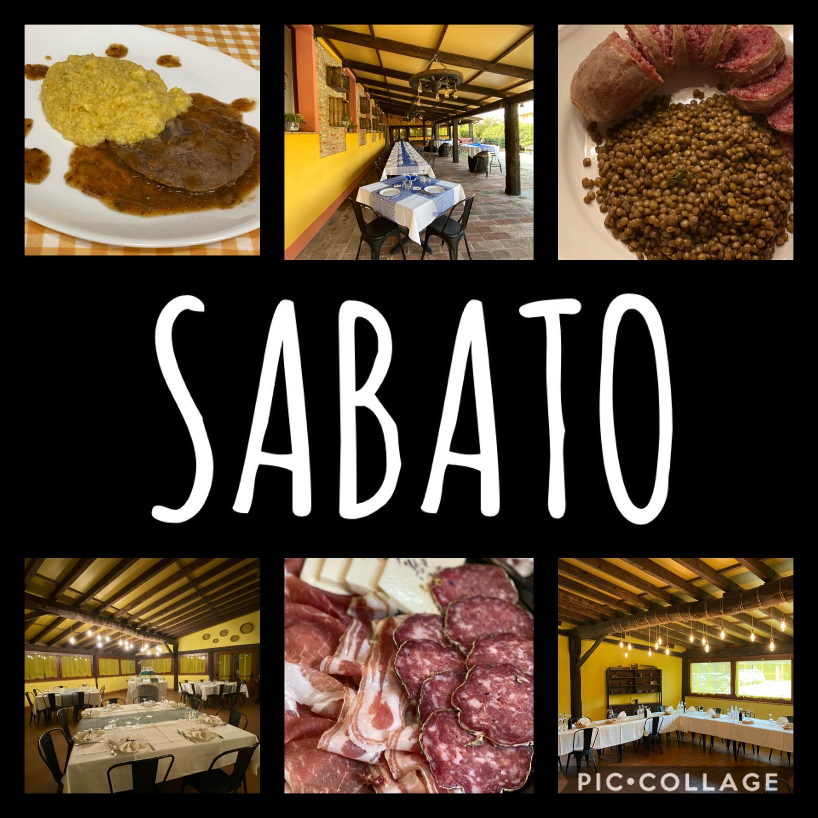 Menù degustazione del Sabato